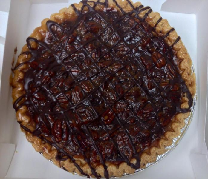 [Image: Get these decadent warm chocolate pecan pies fresh from the oven! ]
