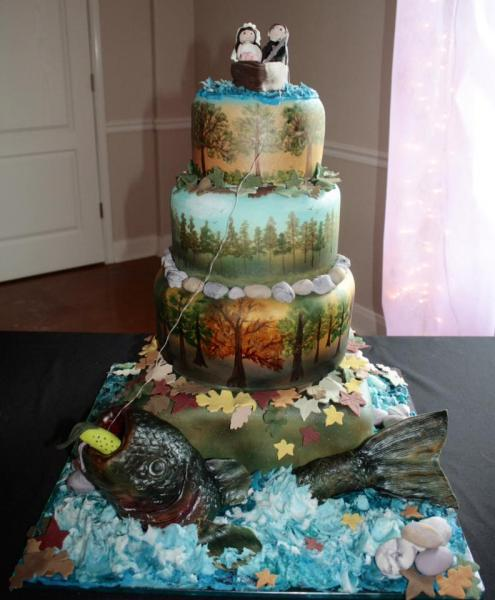 [Image: If you and your significant other enjoy the outdoors then let us showcase that through your cake! ]